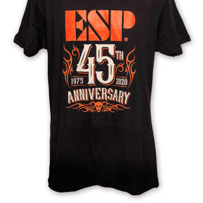 ESP 45th Anniversary Tee Black/Orange L
