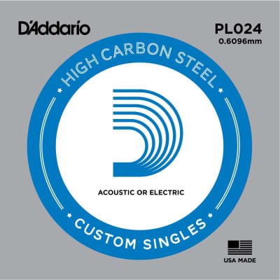 D'Addario Nickel Plain Electric/Acoustic Single String PL024