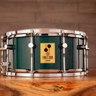 SONOR 14 X 6.5 FORCE 3000 BIRCH SNARE DRUM, GREEN LACQUER (PRE-LOVED)