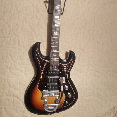 Vintage Rare Maxitone Triple Pickup 1960s Burst for sale