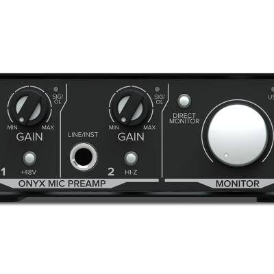 Mackie Onyx Artist 1.2 2x2 USB Audio Recording Studio Interface