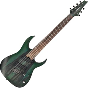 Ibanez RGIM7BC-DFF RG Iron Label Fanned Fret 7-String Guitar Deep Forest Burst Flat