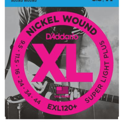 D'Addario EXL120+ Nickel Wound Super Light Plus Electric Strings 9.5-44