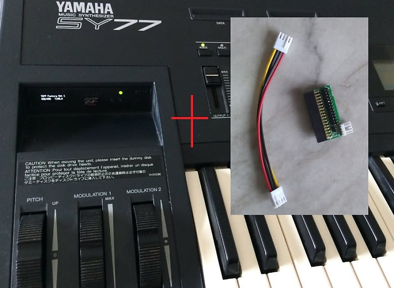 Floppy Drive Emulator USB with 700+ disk files and 100 000+ patches for  Yamaha SY77