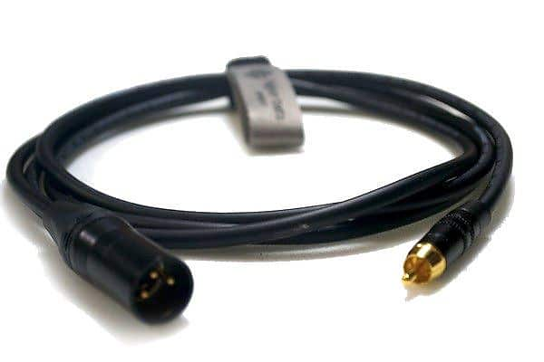 RCA to Male XLR Cable Gold Phono Red Boot Ring Lead Van Damme Neutrik Rean
