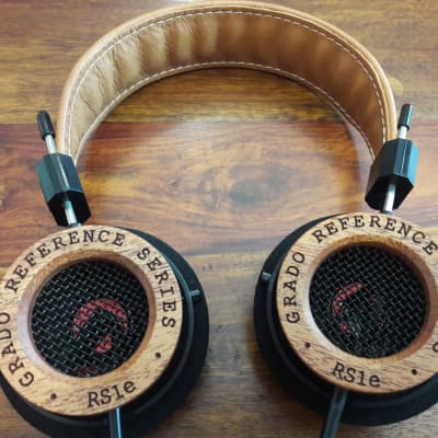 Grado Labs RS1e, Latest Version, Reference Series, 2019, Brown Leather Headband