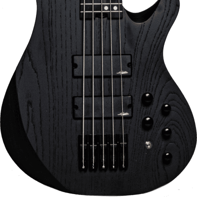 Legator NB5P Ninja Bass Five-String Standard Scale Fanned Fret Black Ash w/Bag for sale