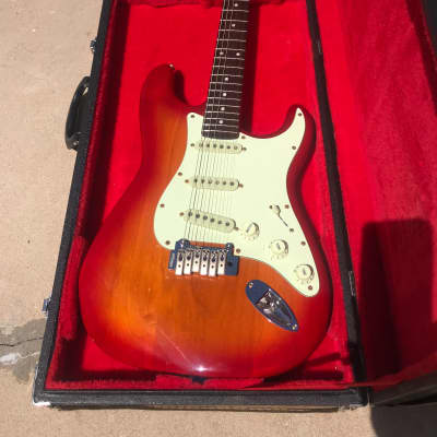 Squier Stratocaster Standard Series by Fender 2007 Cherry Sunburst for sale