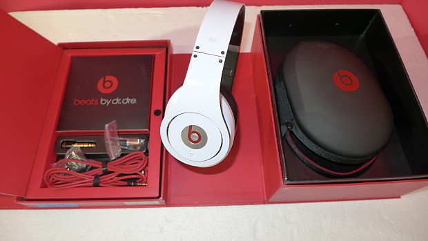 Beats By Dre Studio Wired Noise Cancelling Headphones White Reverb