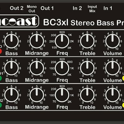Suncoast BC-3 XL Bass Preamp *NEW *Designed with Billy Sheehan