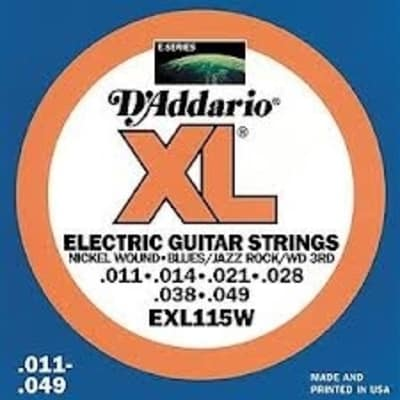D'Addario XL115W Electric Guitar Strings - Wound 3rd