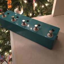 Custom 4 Channel Bypass Switch W/ Master Mute and Tuner Out Blue