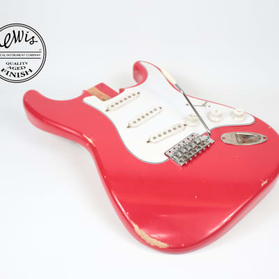 Strat Dakota Red (Faded) Nitro Aged Relic body USA Vintage Specs Alder by Lewis for sale