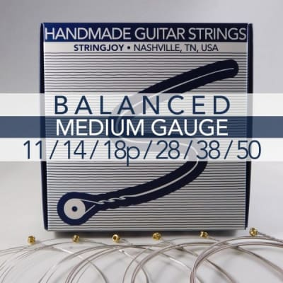 Stringjoy Signatures | Balanced Medium Gauge (11-50) Nickel Wound Electric Guitar Strings