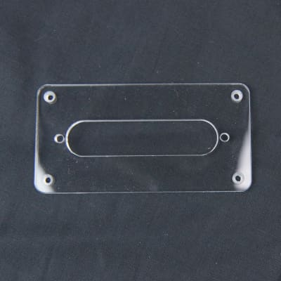 Humbucker to Strat Style Pickup Adapter Ring ,H-S-2 Non-Slant, 1Ply Clear Transparent