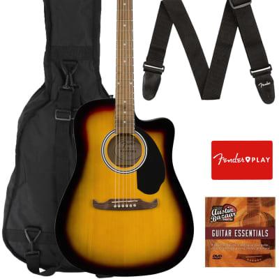 Fender FA-125CE Dreadnought Cutaway Acoustic-Electric Guitar - Sunburst w/ Gig Bag