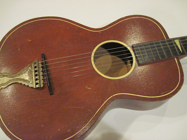 vintage telleno acoustic guitar old parlor 1940 39 s reverb. Black Bedroom Furniture Sets. Home Design Ideas