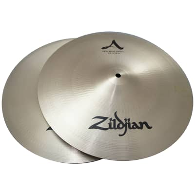 """Zildjian 15"""" A Series Beat Hi Hat in Pair Cast Bronze Cymbals with Solid Chick Sound A0136"""