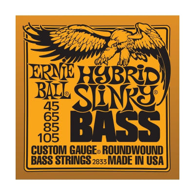 ERNIE BALL Hybrid Slinky Nickel Wound Bass Strings (2833) Single Pack