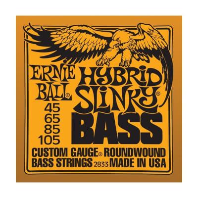 ERNIE BALL Hybrid Slinky Nickel Wound Bass Strings (2833) Single Pack