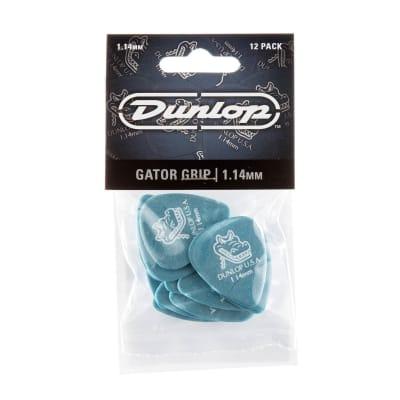 Dunlop 1.14 Blue Gator Grip Standard Picks 12 Pack