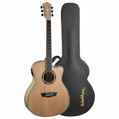 Washburn AG40CE Apprentice Series Grand Auditorium Acoustic Electric w/ Case, Spruce Top (Blem)