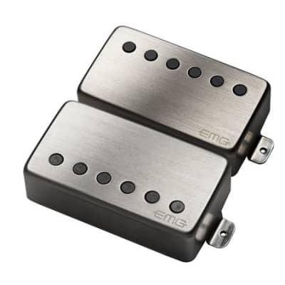 EMG 57 and 66 Humbucker Electric Guitar Pickup Set Brushed Chrome