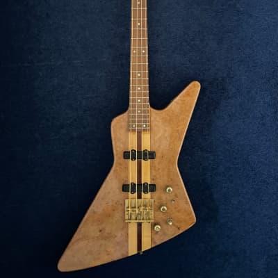 Moonstone Exploder Bass 1980 Exotic Burl Maple for sale