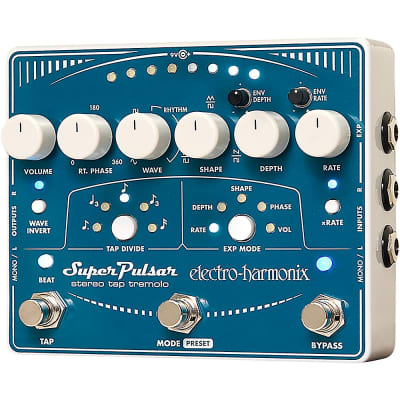 Electro-Harmonix Super Pulsar Tremolo Guitar Effects Pedal Regular