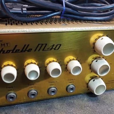 Klemt Echolette M40 4 Channel Tube Amp 1960s/1970s Gold for sale