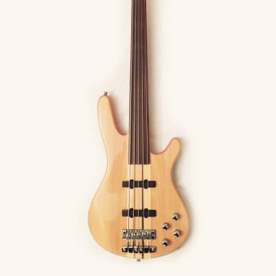 Rare DOUGLAS 5-String Fretless Neck-Thru Active Jazz Bass -2007 MIK. Great Condition !... for sale
