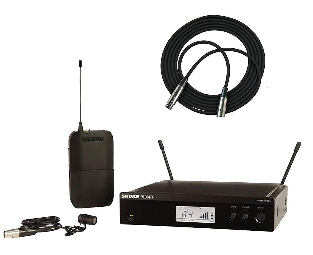 Shure BLX14R/W85 Lavalier Wireless System w/ WL185 Microphone ( Freq. H10)  2019