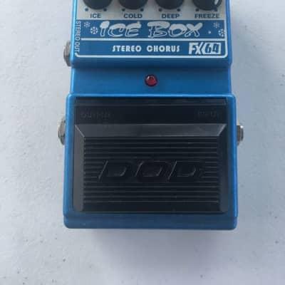 DOD Digitech FX64 Ice Box V2 Stereo Analog Chorus Rare Guitar Effect Pedal for sale