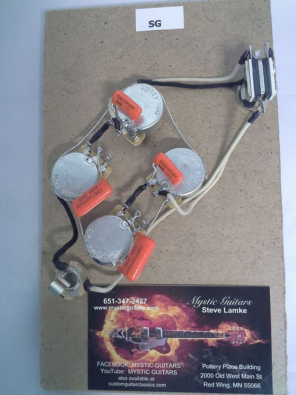SG Style Pre-Wired Guitar Wiring Harness/Free USA Shipping on
