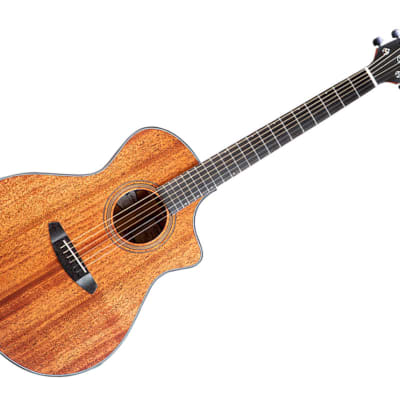 Breedlove Organic Wildwood Series Concert Satin CE Hollow Body Natural Sound Electronic-Acoustic Guitar Laurel/Mahogany Stain - WWCN01CEAMAM