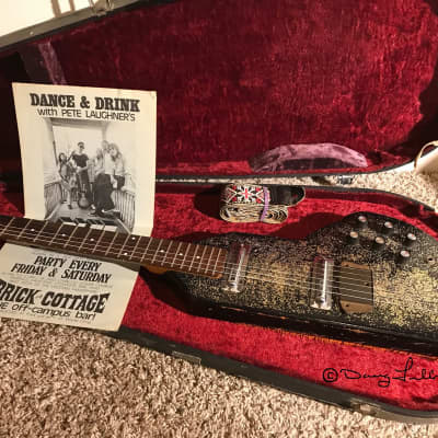 Coral™ Electric Sitar 1967 Black W/Glitter Refinish/Modified Cleveland's Blue Drivers History for sale