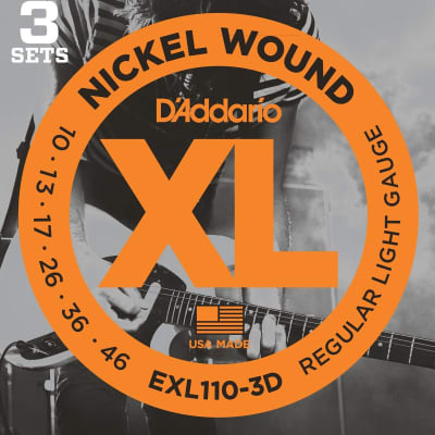 D'Addario EXL110-3D 3 Set Value Pack Regular Light 10-46