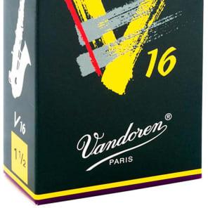 Vandoren SR7015 V16 Series Alto Saxophone Reeds - Strength 1.5 (Box of 10)