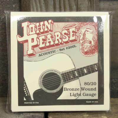 John Pearse 200L 80/20 Bronze Acoustic Guitar Strings - 12/53 for sale