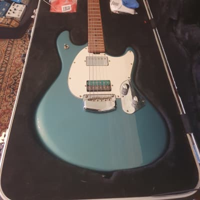 Music Man Stingray RS 2018 vintage turquoise with custom Josh Parkin bridge pickup for sale