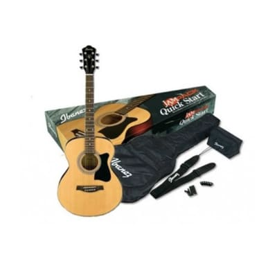 Ibanez VC50NJP Dreadnought Acoustic Jam Pack, Natural for sale