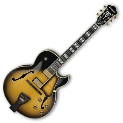 Ibanez LGB300-VYS George Benson Signature Hollow Body Guitar in Vintage Yellow Sunburst
