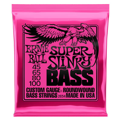 Ernie Ball Super Slinky Electric Bass Strings | 45-100 Gauge
