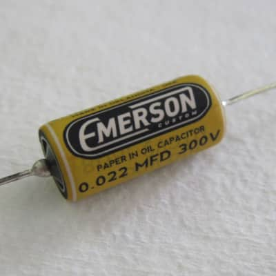Emerson Custom .022uF Paper in Oil Tone Capacitor