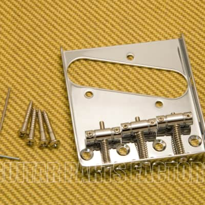GB-TTS-C Chrome Single Groove 3-Saddle Bridge for Fender Telecaster/Tele® image