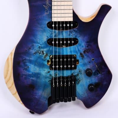 AGILE CHIRAL PARITY 625 MN HSS SS BLUE / PURPLE BURST Headless Electric Guitar for sale