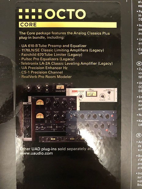 Universal Audio UAD-2 Satellite thunderbolt Octo Core with $6k in Plugins