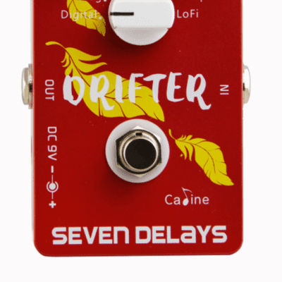 """Caline CP-37 """"Drifter"""" seven Delays Guitar Effect Pedal"""