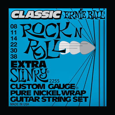 Ernie ball Classic Pure Nickel Guitar Stings Slinky Extra 8 - 38 for sale