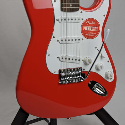 Squier Affinity Stratocaster with Indian Laurel Fretboard 2018 Race Red for sale
